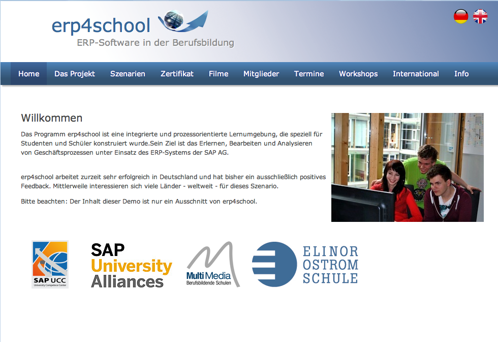 erp4school Website